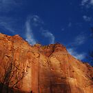 Gigantic rock wall, Kolob Canyon, Zion, Utah by Claudio Del Luongo