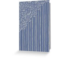 The Unraveling of Paisley Lace Greeting Card