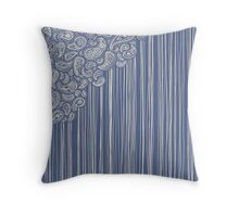 The Unraveling of Paisley Lace Throw Pillow