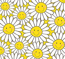 Smiling White Daisies by Lisa Marie Robinson