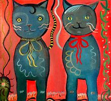Happy Shiny Cats by shelbyharbison