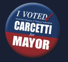 "I Voted Carcetti for Mayor (pin) - ""The Wire"" Kids Clothes"