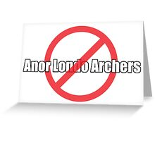 Dark Souls- Anor Londo Archers Greeting Card