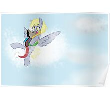Flying With Mommy--Discord and Derpy Poster