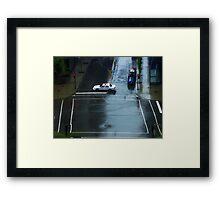Montreal - Police car. Framed Print