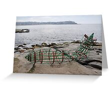 Zeppelin Crash @ Sculptures By The Sea 2012 Greeting Card