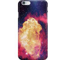 Big Fire inside the blue space iPhone Case/Skin
