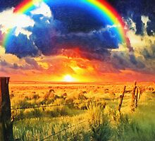 fence and the rainbow by Adam Asar