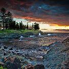 Storm Bay Sunrise  by Geraldine Lefoe