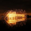 Aberlady Bridge light painting by Chris Cherry