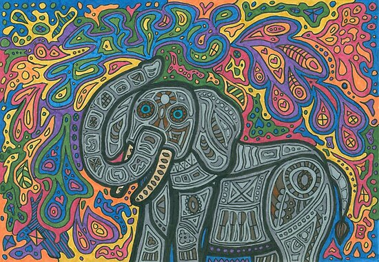 Playful Elephant by Sara Hooks