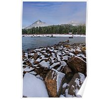 First Snow at Snoqualmie Pass Poster