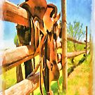 Painted Saddle iPad Case by ipadjohn