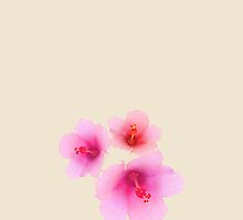 Pink flower on champagne color by CatchyLittleArt