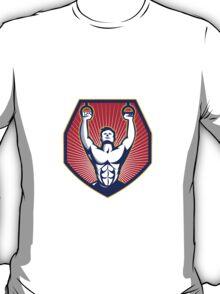 Crossfit Training Athlete Rings Retro  T-Shirt
