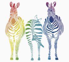 Rainbow Zebras by Chunga