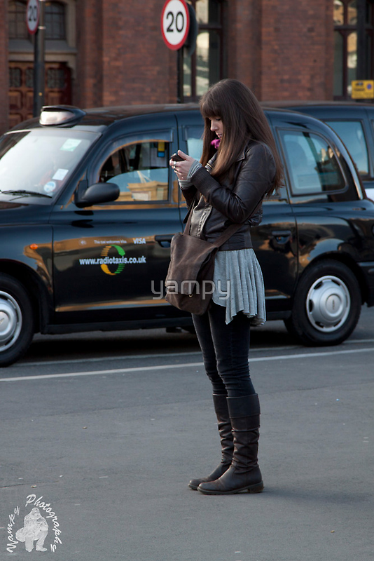 Phoning for a cab by yampy
