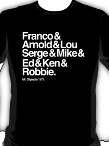 The Names of Mr Olympia 1975 T-Shirt
