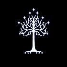 tree of gondor deluxe iphone case blue by jmakin