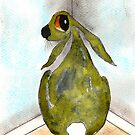 HARE IN THE NAUGHTY CORNER by Hares & Critters