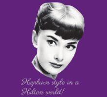 Hepburn style in a Hilton world! - dark by sandnotoil