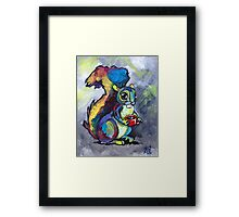 Caffeinated Squirrel Framed Print