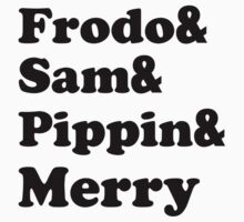 Frodo&Sam&Pippin&Merry by cabilo