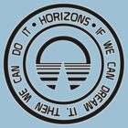 Epcot Button Horizons Black by AngrySaint