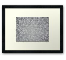 Water Droplets on Tempered Glass Framed Print