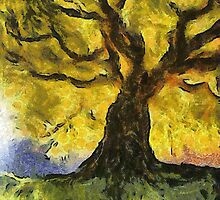 Tree a la van Gogh by Gun Legler