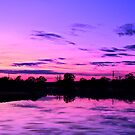 Purple and blue sunset scene by SteveHphotos