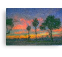 The Pink Salmon Sunset Canvas Print