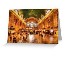 Golden Grand Central Greeting Card