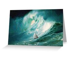 Caught in high tides  Greeting Card
