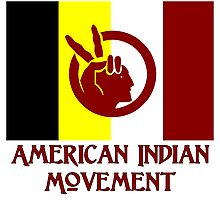 The American Indian Movement - Flag Photographic Print