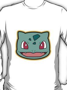 Bulbasaur Pokemon Minimal Design First Generation Sticker Shirt T-Shirt