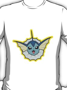 Vaporeon Pokemon Minimal Design First Generation Sticker Shirt T-Shirt