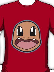 CHARMANDER Pokemon Minimal Design First Generation Sticker Shirt T-Shirt