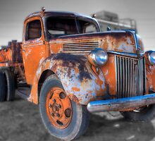 Orange Truck by Ray Green