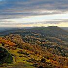 Malvern Hills, a southward view by crisscross