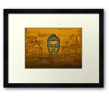 Buddha. The message Framed Print