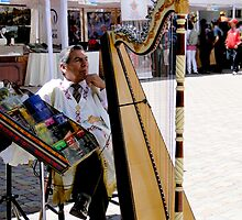 Portrait Of A Harpist by Al Bourassa