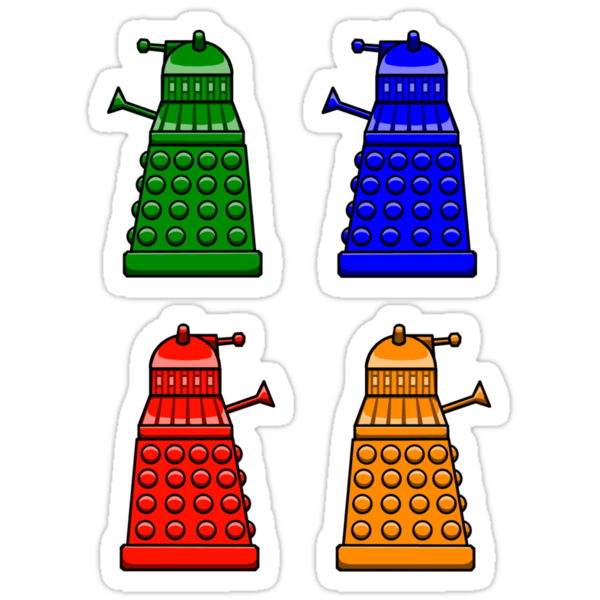 Cheerful Daleks by uncmfrtbleyeti