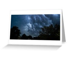 Weather Chaos in Suburbia Greeting Card