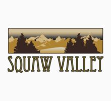 squaw valley ski resort truck stop novelty tee by Tia Knight