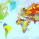 World Map watercolor by Adam Asar