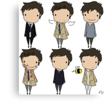 The Many Faces of Castiel Canvas Print