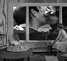 lovers outside the window by Loui  Jover