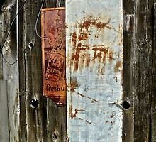 Old Wood, Old Signs by Scott Johnson