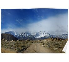 Jeep road towards Sierra Nevada Poster